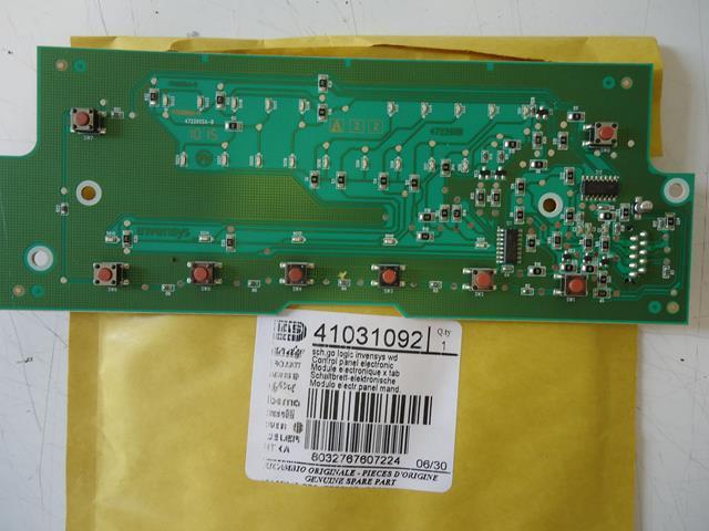 Carte Électronique Commandes Machine à Laver Candy Original 41031992
