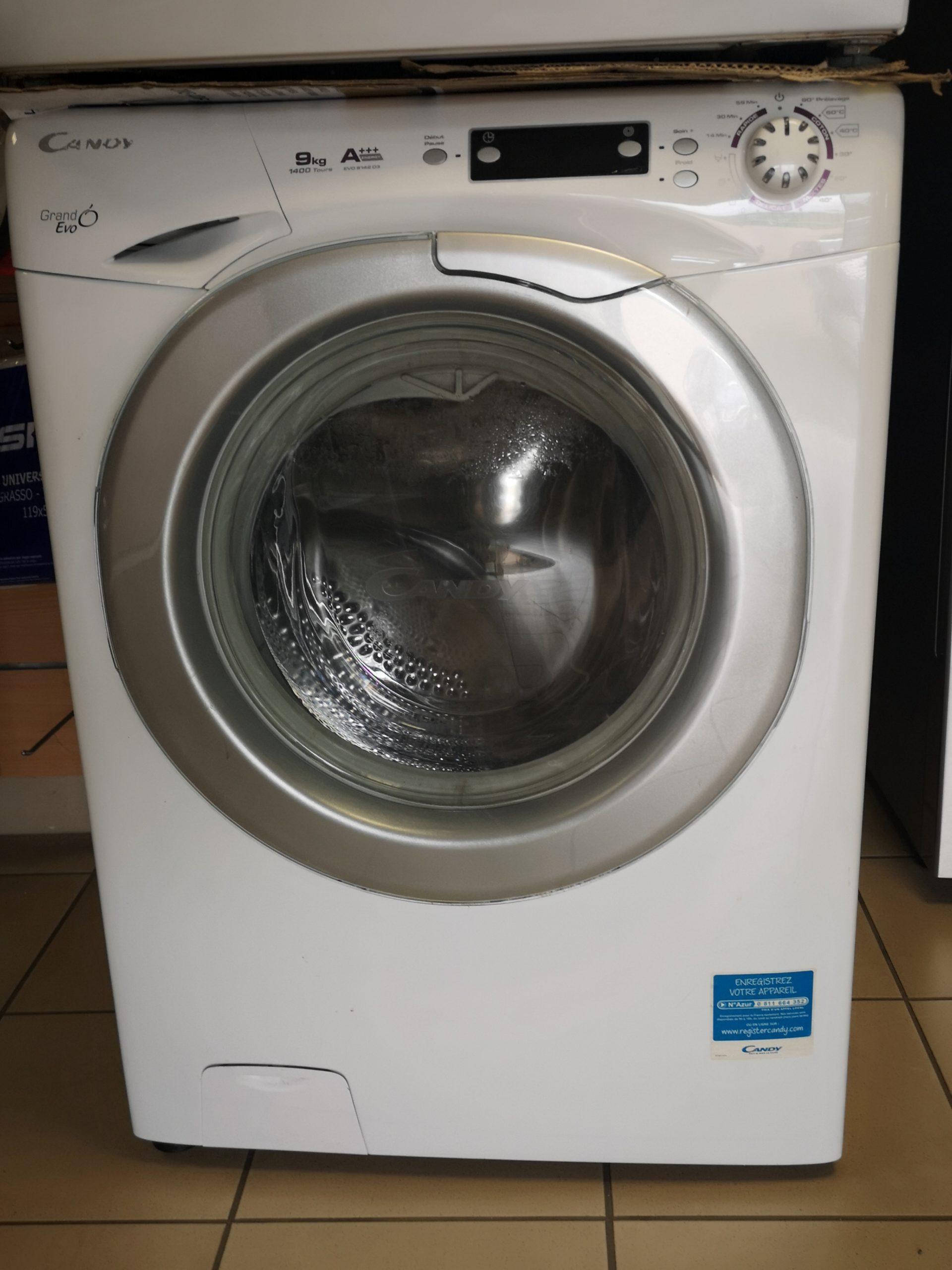 Machine à laver CANDY 9kg – Prix : 35 800FR – GARANTIE 3 MOIS EN ATELIER